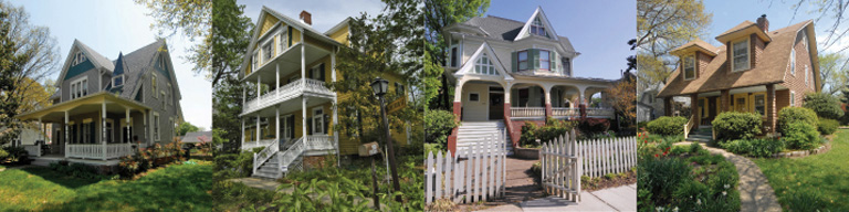 These are historic houses in Hyattsville, MD.